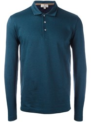 Canali Longsleeved Polo Shirt Blue