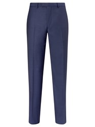 Daniel Hechter Sharkskin Tailored Suit Trousers Indigo