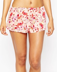Gossard Watercolour Roses French Knicker Pink