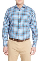 Men's John W. Nordstrom Regular Fit Plaid Oxford Sport Shirt