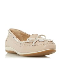 Geox D Yuki Bow Front Loafers Taupe
