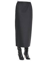 Eskandar Long Wool Straight Skirt Women's