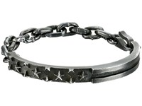 King Baby Studio Flag Id Bracelet With Chain And Hook Silver