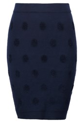 Y.A.S Yas Yasdotty Pencil Skirt Navy Blazer Dark Blue