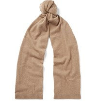 Theory Donners Cashmere Scarf Camel
