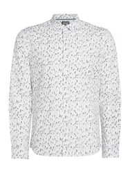 Linea Jeremy Rose Printed Shirt White