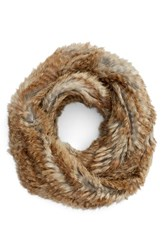 Jocelyn Women's Genuine Rabbit Fur Infinity Scarf Natural Heather