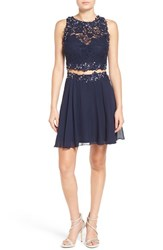 Way In Women's Lace Two Piece Skater Dress