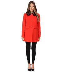 Kate Spade Single Breasted Peacoat 30 Lollipop Red
