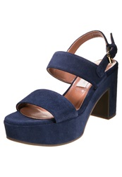 D'archive By L'autre Chose Platform Sandals Navy Dark Blue