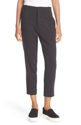 Vince Women's 'Carrot' Tapered Leg Ankle Pants Charcoal