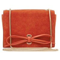 Reiss Pinky Bow Front Bag Coral
