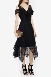 Rodebjer Asymmetric Lace Dress Black