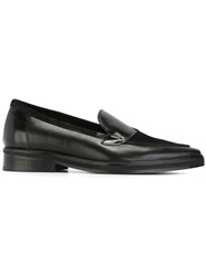 H By Hudson Pointed Toe Loafers Black