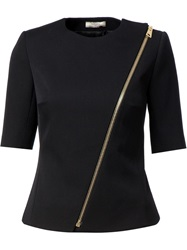 Bouchra Jarrar Half Sleeve Zipped Jacket Black