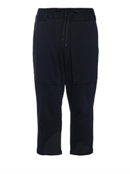 Cropped Cotton Blend Jersey Trousers