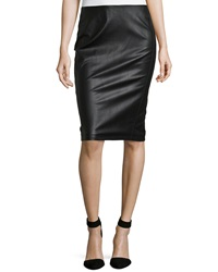 Romeo And Juliet Couture Faux Leather Pencil Skirt Black