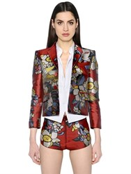 Dsquared Cherry Blossom Jacquard Short Jacket