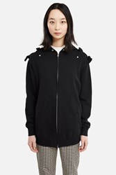Undercover Zippered Bow Hoodie Black