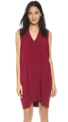 Zero Maria Cornejo Sleeveless Tasi Dress Burgundy