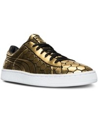 Puma Men's Basket Classic Metallic Casual Sneakers From Finish Line Gold