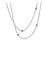 David Yurman Renaissance Necklace With Pink Tourmaline Rhodalite Garnet And 18K Gold Silver Gold