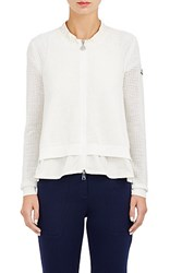 Moncler Women's Maglia Zip Front Sweater Nude