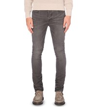Allsaints Morar Cigarette Slim Fit Tapered Jeans Black