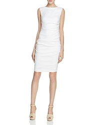 Nicole Miller Ruched Dress White