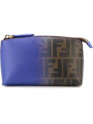 Fendi Ff Logo Make Up Bag Pink And Purple
