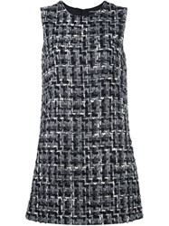 Dolce And Gabbana Boucle Shift Dress Grey