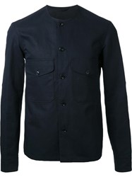 Christophe Lemaire Collarless Overshirt Black
