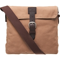 Felisi Canvas Flap Front Messenger Beige Tan