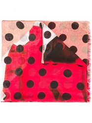 Paul Smith Ps By Polka Dot Scarf Red