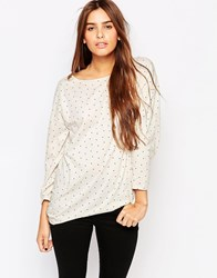 The Furies Noh Polka Dot Long Sleeve T Shirt White