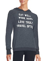Wildfox Couture Graphic Hoodie Clean Black