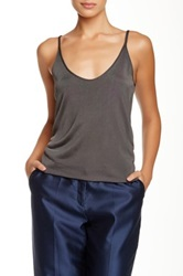 Giorgio Armani Scoop Neck Knit Tank Gray