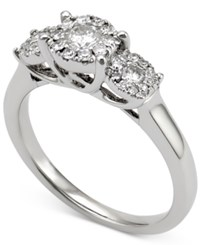 Macy's Diamond Engagement Ring 1 2 Ct. T.W. In 14K White Gold