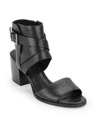 Kenneth Cole Chara Leather Open Toe Sandals Black