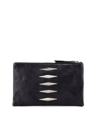 Lauren Merkin Pyramid Leather Evening Clutch Bag Navy