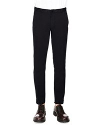 Dries Van Noten Priddy Slim Fit Chino Pants Navy