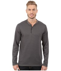 Exofficio Isoclime Thermal Henley Dark Pebble Slate Men's Long Sleeve Pullover Gray