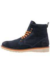 Superdry Stirling Laceup Boots Navy Dark Blue