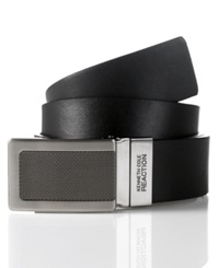 Kenneth Cole Reaction Reversible Plaque Belt Blk Brn