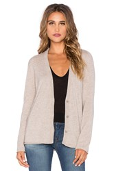 Inhabit Cashmere Zip Sleeve Cardigan Taupe