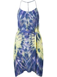 Raquel Allegra Tie Dye Sundress Blue