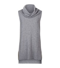 Elie Tahari Petra Cowl Neck Jumper Female Grey