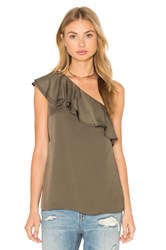 Theory Damarill One Shoulder Tank Sage