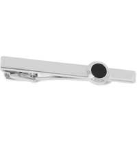 Alfred Dunhill Onyx And Silver Tie Clip