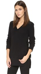 Rag And Bone Jane V Neck Pullover Black